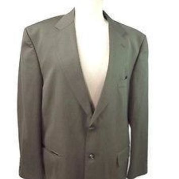 Statements Mens Soft Olive Green  Blazer Sports Coat Jacket Size 46 Regular