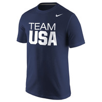 Men's Nike Navy Team USA Classic Core T-Shirt