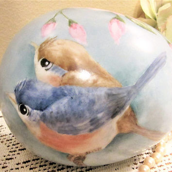 Easter Egg Large Birds Porcelain Ceramic Decorations Home Decor Hand Painted blmm