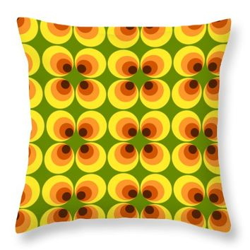 Retro 77 Throw Pillow