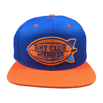 Sky Club / Member Snapback - Royal Blue/Orange