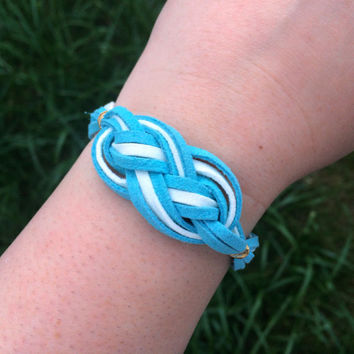 Sailor Knot Bracelet Blue and White Nautical