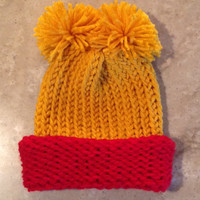 Winnie The Pooh Inspired Baby Infant Knitted Winter Hat
