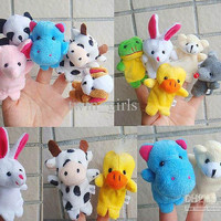 Freeshipping Finger puppets,Finger puppets Cloth wool toy ,Christmas gifts,Children's toys