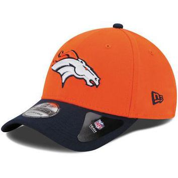 Denver Broncos New Era NFL 39THIRTY Team Classic Stretch Fit Flex Cap Hat 3930