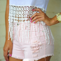 Roller Skate Barbie Shorts: Peach | Hope's