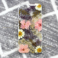 iphone X  pressed flower iphone 6s case iphone 6 case clear, iphone se case floral, iphone 7 plus case flowers, iphone 5s case, iphone 8 tpu