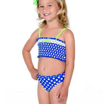 Hula Star Girls 2-6x Smocked Two-Piece Swimsuit