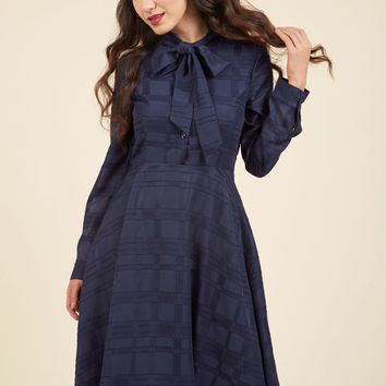Dignified Delivery Shirt Dress in Navy | Mod Retro Vintage Dresses | ModCloth.com