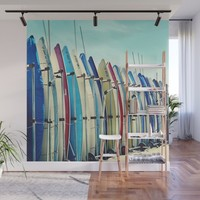 California surfboards Wall Mural by sylviacookphotography