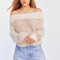Kimchi Blue Kelli Off-The-Shoulder Sweater   Urban Outfitters