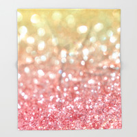 Champagne Tango Throw Blanket by Lisa Argyropoulos | Society6