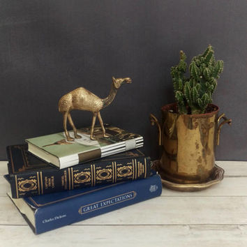 Brass Camel/ Camel/ Camel Decor/ Brass Figurine/ Egyptian Decor/ Brass Animal/ Boho Decor/ Bohemian Decor/ Vintage Brass Animals