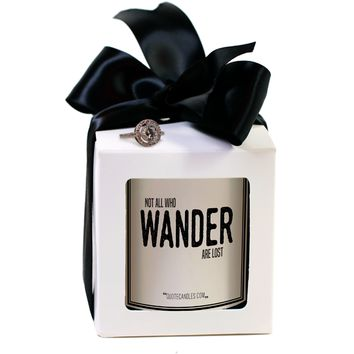 Not All Who Wander Are Lost Quote Candles