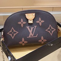 LV Louis Vuitton New fashion monogram print leather chain shaped shoulder bag crossbody bag