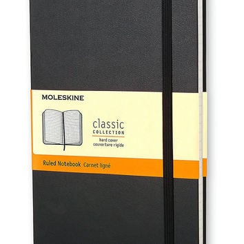 MOLESKINE POCKET RULED BLACK HARD COVER NOTEBOOK