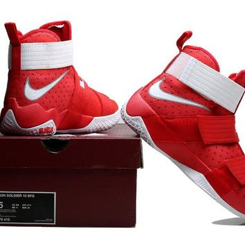Nike LeBron Soldier 10 X Red/White Sneaker