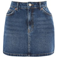 MOTO Mid Blue Denim Mini Skirt | Topshop