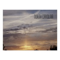 North Carolina- Sunset and Clouds Poster