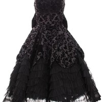 Hell Bunny Lavintage Black Lace Ball Gown Prom Formal Dress Gothic