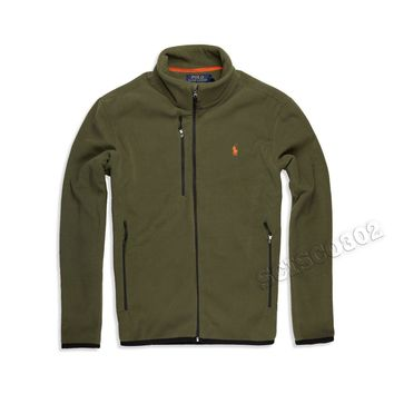 Polo Ralph Lauren Fleece Coat Defender Green Full Zip