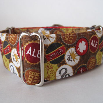 Beer Lovers Martingale Collar, Beer Martingale Collar, Dog Collar, Greyhound Collar, Greyhound Martingale, Custom Dog Collar, Made in Canada