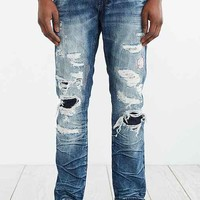 PRPS Goods & Co. Demon Slim Rip Repaired Jean- Vintage Denim Medium