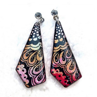 COLORFUL PATTERN EARRING