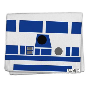 """Blue and White Robot AOP 11""""x18"""" Dish Fingertip Towel All Over Print by TooLoud"""
