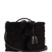 Grace small shearling and leather box bag | Mark Cross | MATCHESFASHION.COM US