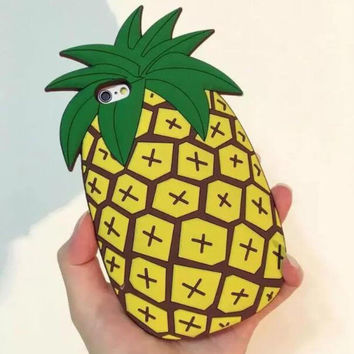 Cool Original Pineapple mobile phone case for iPhone 7 7 plus iphone 5 5s SE 6 6s 6plus 6s plus + Nice gift box!