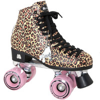 Moxi Roller Skates, Ivy in Jungle Tan Leopard - Square Cat Skates