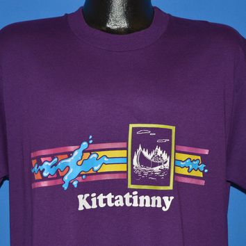 80s Kittatinny Mountain River Canoe t-shirt Extra Large