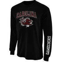 South Carolina Gamecocks Arch & Logo Long Sleeve T-Shirt - Black
