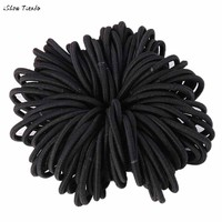 50PCS Elastic Hair Bands Thick Endless Snag Free Hair Elastics Bobbles Bands hair tools