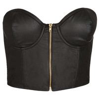 PU Zip Up Bralet - New In This Week - New In - Topshop USA