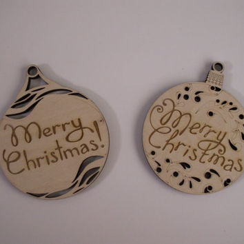 christmas ornament wood shape laser cut unfinished wood chri