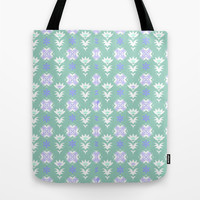 Edwardian Tile Blue Tote Bag by ALLY COXON | Society6