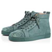 Christian Louboutin Cl Lou New Degra Flat Version Everest Suede 18s Sneakers - Best Deal Online