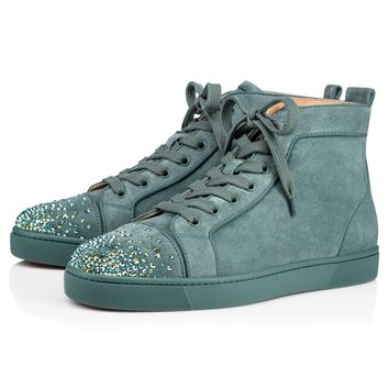 Best Online Sale Christian Louboutin Cl Lou New Degra Flat Version Everest Suede 18s Shoes 1180036u246