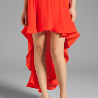 Alexis Isabell Hi-Lo Skirt in Red Orange from REVOLVEclothing.com