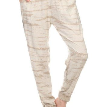 Tie Dye Printed Full Length Relaxed Fit Lounge Wear Style Pants
