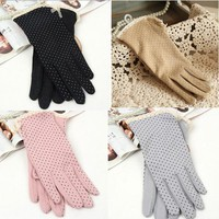 1Pair Sun Protection Glove High Quality Sunscreen Short Gloves Women's Summer Driving Gloves Women Gloves