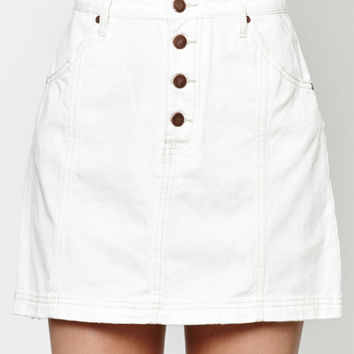 MinkPink A Total Flirt Button-Front Denim Skirt at PacSun.com