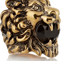 Gucci - Gold-plated crystal ring