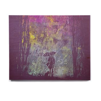 "Frederic Levy-Hadida ""Purple Rain"" Birchwood Wall Art"