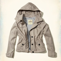 Girls Hooded Short Trench Coat | Girls New Arrivals | HollisterCo.com