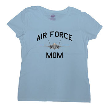 Air Force Mom Shirt Proud Mom T-Shirt Gift For Mom Mother's Day TShirt Christmas Birthday Army Navy Coast Guard Military Ladies Tee - SA295