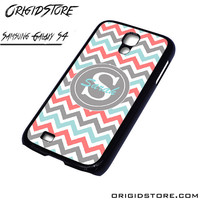 Chevron Tiffany Blue Coral Type Your Name Case For Samsung Galaxy S4 Case