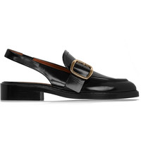 Givenchy - Slingback loafers in black leather
